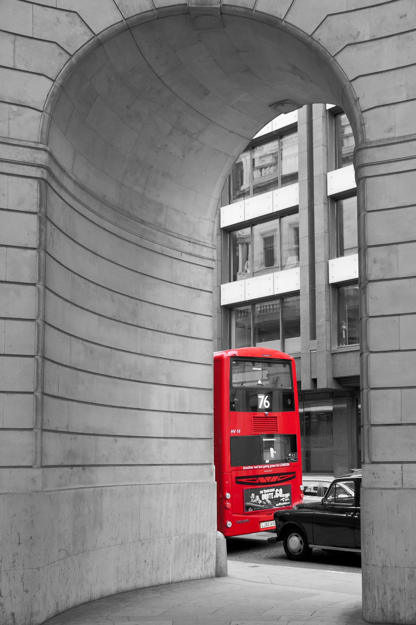 Red: Bus @ Royal Exchange